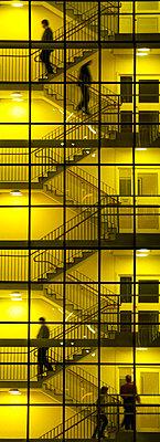 People climbing office stairs - p1418m1559097 by Jan Håkan Dahlström