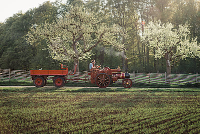 Traktor fahren - p1437m1586597 von Achim Bunz