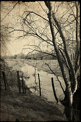 River landscape, nostalgia, France - p1402m2231827 by Jerome Paressant