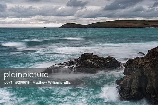 Trevose Head, seen from Constantine Bay, Cornwall, England, United Kingdom, Europe - p871m929661f by Matthew Williams-Ellis