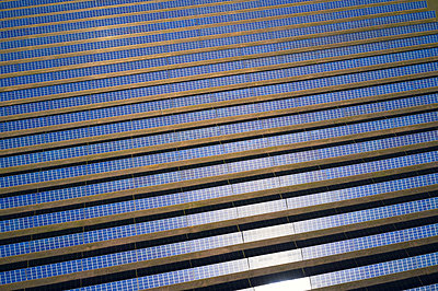 Rows of  solar energy plant - p1630m2229320 by Sergey Mironov