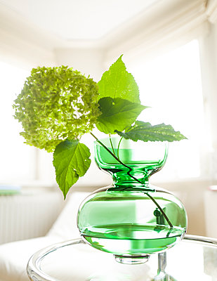 Grüne Vase - p1510m2030123 von Ingrid Amenda