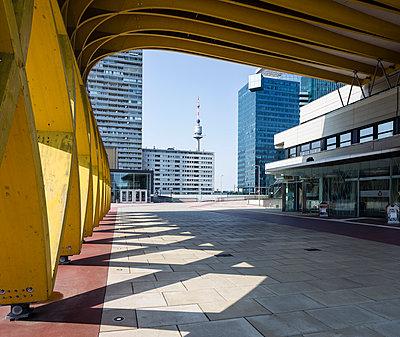 Austria, Vienna, Donau City, Saturn Tower, Austria Center Vienna, Donauturm and Mischek Tower - p300m965298f by Dieter Schewig