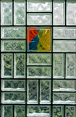 Glass brick, full frame - p3006915f by Anja Weber-Decker