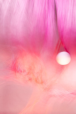 Mystic ball and pink fabric - p1322m1585032 by Marie-Therese Cramer