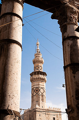 Minarett der Umayyaden-Moschee in Damaskus, Syrien - p1493m2064000 von Alexander Mertsch