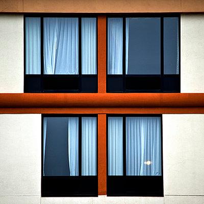 Hotel windows in Savannah's Historic District. - p1072m874559f by Joseph Shields