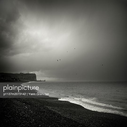 Strand von Fécamp - p1137m2073142 von Yann Grancher