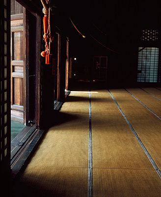Tatame mats covering the floor Inside a Yogen-in Temple in Kyoto - p3490354 by Elsa Young