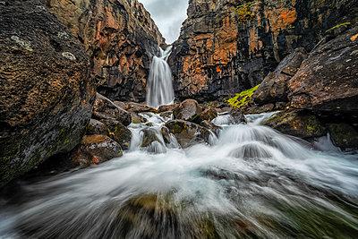 Fardagafoss waterfall; Iceland - p442m2091718 by Robert Postma