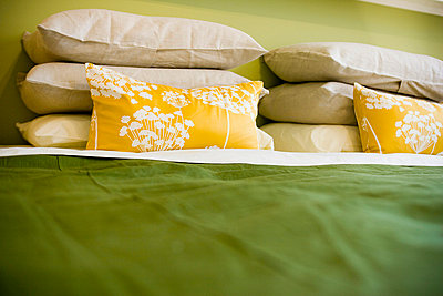 Detail of Bed sheets and Pillows - p5550268f by LOOK Photography