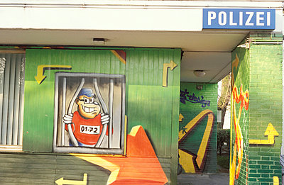 Bemalte Polizeistadion - p2370017 von Thordis Rüggeberg
