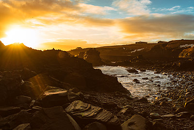 The rocky coast of Hellnar in Snaefellsjoekull National Park - p1332m1502692 by Tamboly