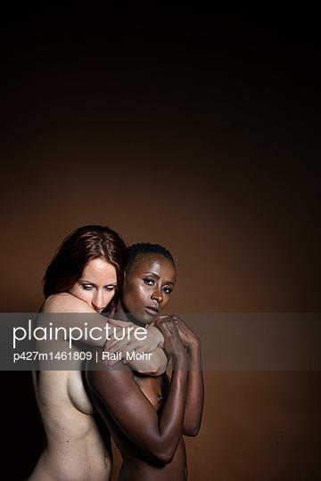 Two lesbian women embracing