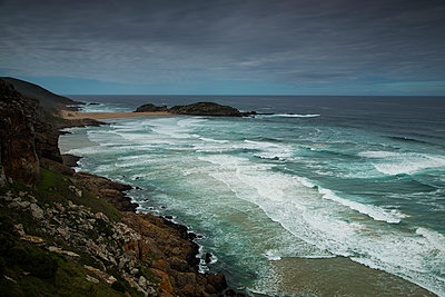 Overcast Beach View - p1655m2233662 by lindsay basson