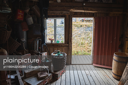 tools and supplies of the former Norwegian fishermen - p1166m2200289 by Cavan Images