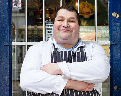 Fischverkäufer - p1367m1225461 von Teresa Walton