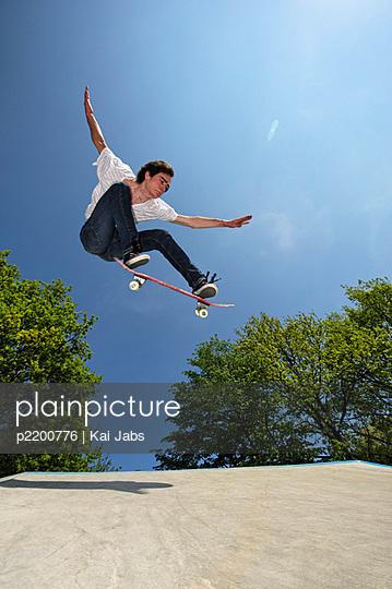 Skateboard fahren - p2200776 von Kai Jabs