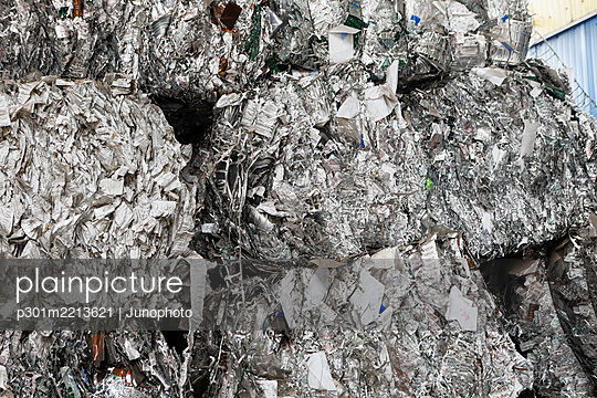 Recycled paper bundles - p301m2213621 by Junophoto