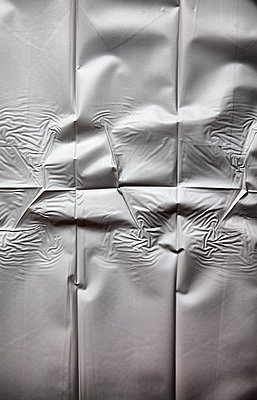 Crumpled shower curtain - p1248m1185562 by miguel sobreira