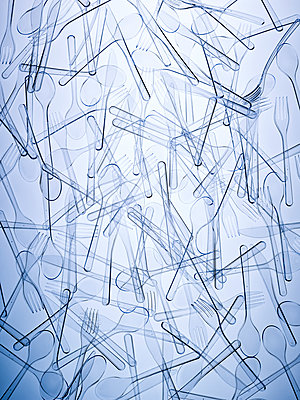 Structures plastic cutlery - p1318m2031935 by Tom Seelbach
