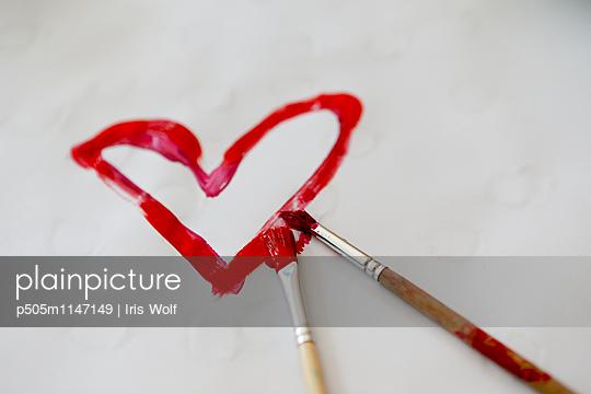 Herz - p505m1147149 von Iris Wolf