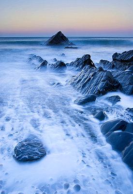 Sunrise at Sandymouth Bay, Cornwall, UK - p6510975 by Nadia Isakova photography