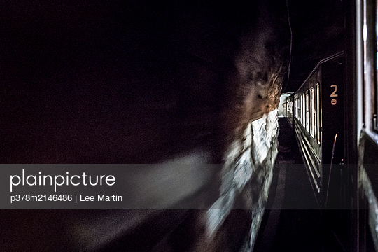 Train through tunnel - p378m2146486 by Lee Martin