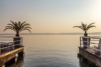 Sunset at lake Garda - p1408m1465083 by Guy Nesher