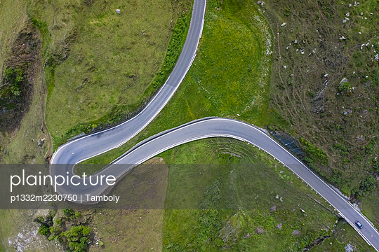 Aerial view, Switzerland, Furka Pass  - p1332m2230750 by Tamboly