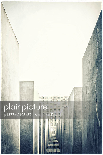 Germany, Berlin, Berlin Mitte, Holocaust memorial, Holocaust memorial - p1377m2105487 by Massimo Ripani
