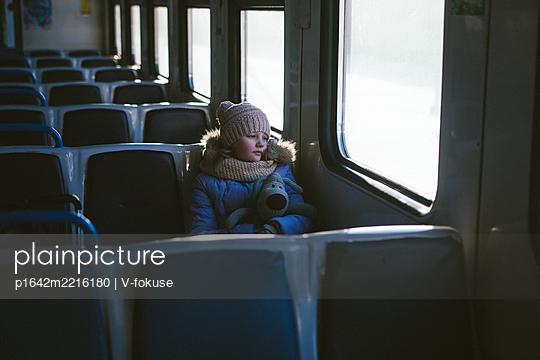 Child on on a train - p1642m2216180 by V-fokuse