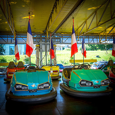 Bumper car, France - p813m1172544 by B.Jaubert
