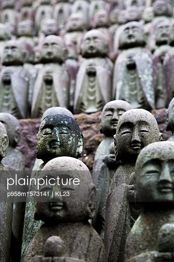 Stein Mönche in Kamakura - p958m1573141 von KL23