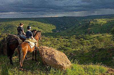 Horse riding safari at Ol Malo - p6521142 by John Warburton-Lee