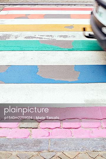 Painted street - p1540m2259024 by Marie Tercafs