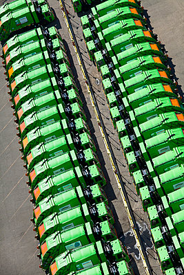 Garbage Truck Fleet - p1100m2090742 by Mint Images