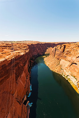 Cliffs along the Colorado River; Arizona, United States of America - p442m1449025 by Christine Mariner