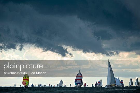 yachts storm clouds - p378m2085636 by Leo Mason