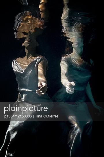 underwater ballet - p1554m2158986 by Tina Gutierrez