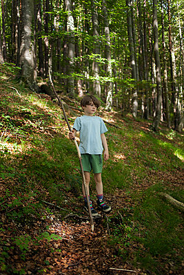 Kind im Wald - p1338m1487977 von Birgit Kaulfuss