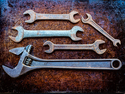 Variety of wrenches - p1427m2038173 by WalkerPod Images