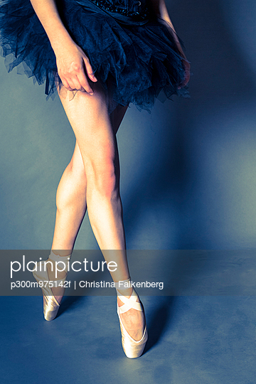 Legs of young ballet dancer