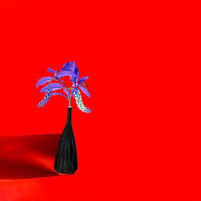 Collage, Flowers in flower vase - p1413m2278752 by Pupa Neumann
