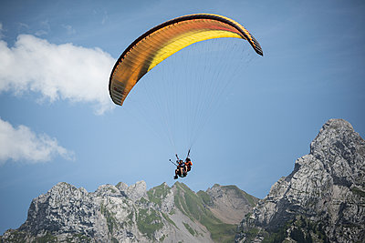 France, Aravis, Paragliding in the Alps - p1007m2216498 by Tilby Vattard