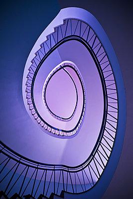 Spiral staircase - p1149m2115783 by Yvonne Röder