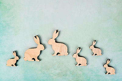 Easter bunny family - p451m2158800 by Anja Weber-Decker