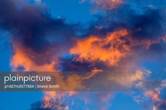Cloudscape at sunset - p1427m2077554 by Steve Smith