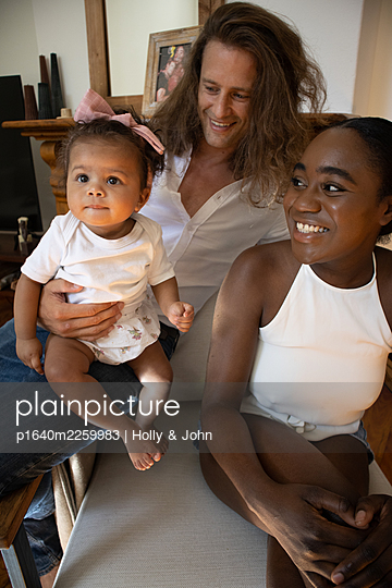 Multi ethnic family with toddler girl - p1640m2259983 by Holly & John