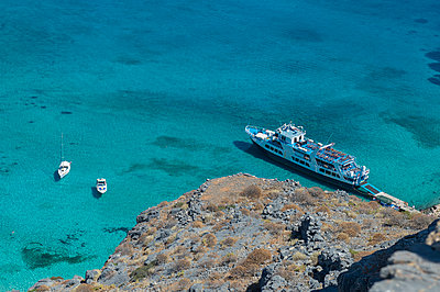 Landscape from Gramvousa castle to the Balos lagoon - p1242m2122153 by teijo kurkinen